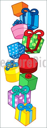 Illustration Of Pile Of Christmas Gifts    Pile Of Christmas Gifts