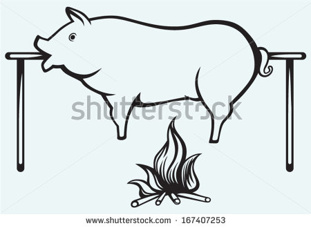 Pig Roast Clipart Affordable And Search From Millions Of Royalty Free