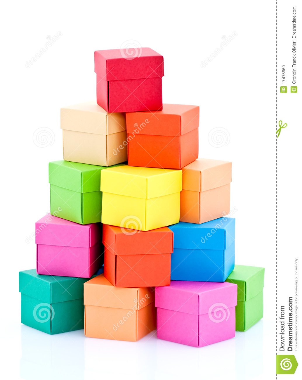 Pile Of Colored Boxes Royalty Free Stock Images   Image  17475669