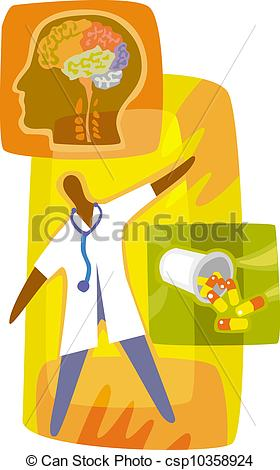Administering Mental Health Medication Csp10358924   Search Clipart