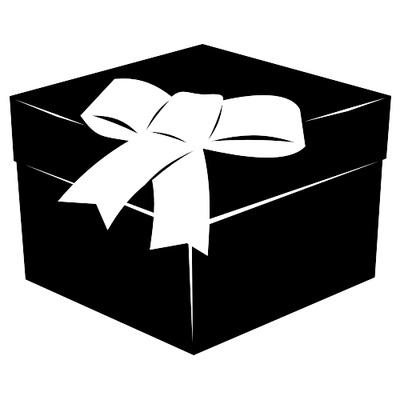 Gift Box Black And White Clipart - Clipart Kid