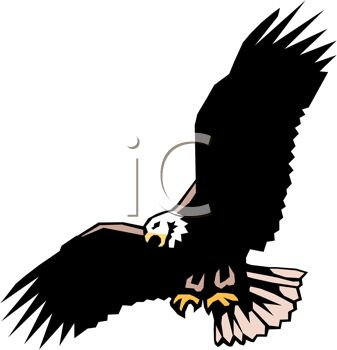 Clipart Bird Silhouette Clipart Eagle With Raised Wings Clipart