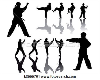Clipart Taekwondo Fighter Silhouette Fotosearch Search Clipart