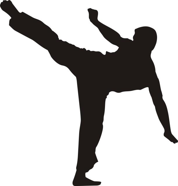 Karate Silhouette Clipart - Clipart Suggest