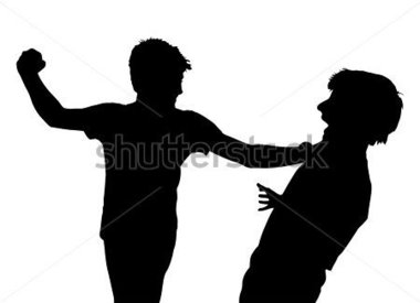 File Browse   Education   Image Of Teen Boys In Fist Fight Silhouette