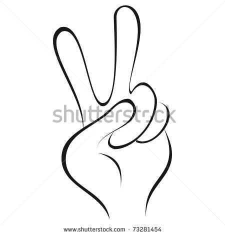 Fingers Clipart Two Fingers   Stock Photo