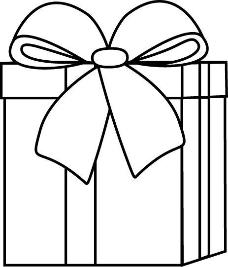 Birthday Present Black And White Clipart - Clipart Kid