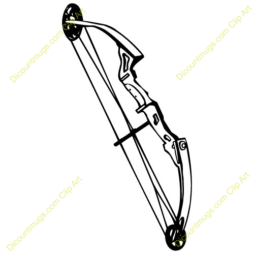 Image Gallery hunting bow clip art