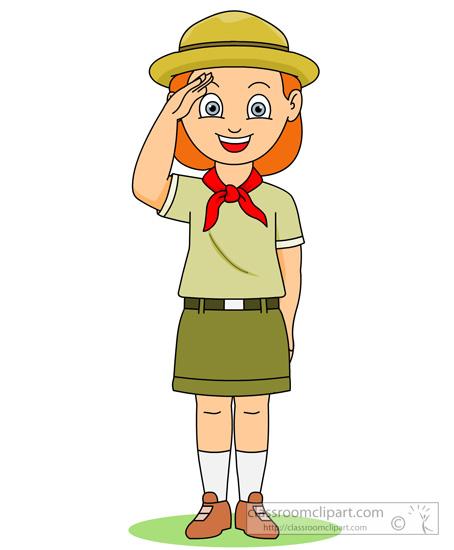 Clip Art Girl Scout Clipart girl scout clipart kid outdoors saluting classroom clipart