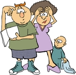 Parenting Clipart 0012 0709 0413 4533 New Parents Stressing Out Baby