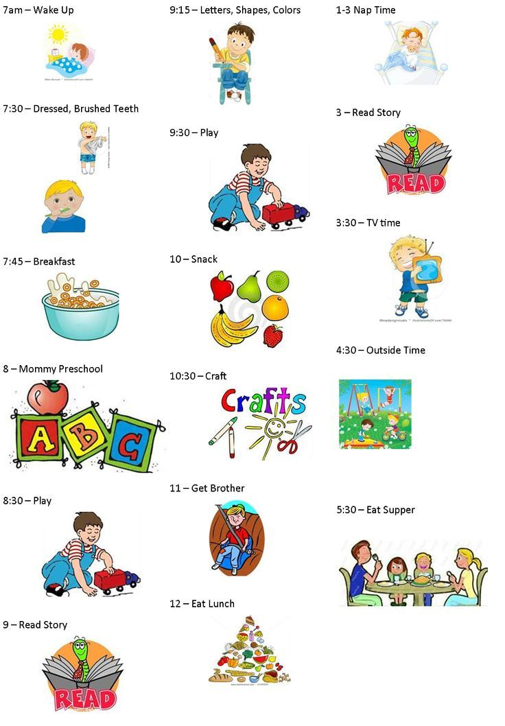 Preschool Daily Schedule Chart Clipart   Free Clipart