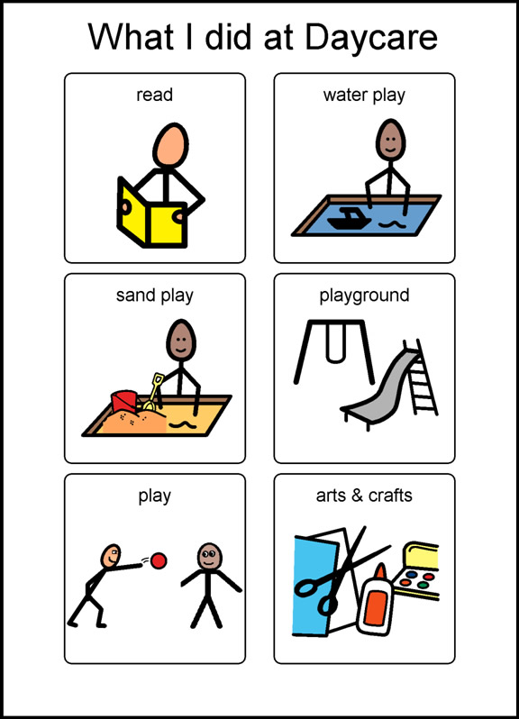 Preschool Daily Schedule Clipart What I Did At Daycare 1