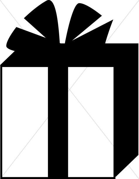 Gift Box Black And White Clipart - Clipart Suggest