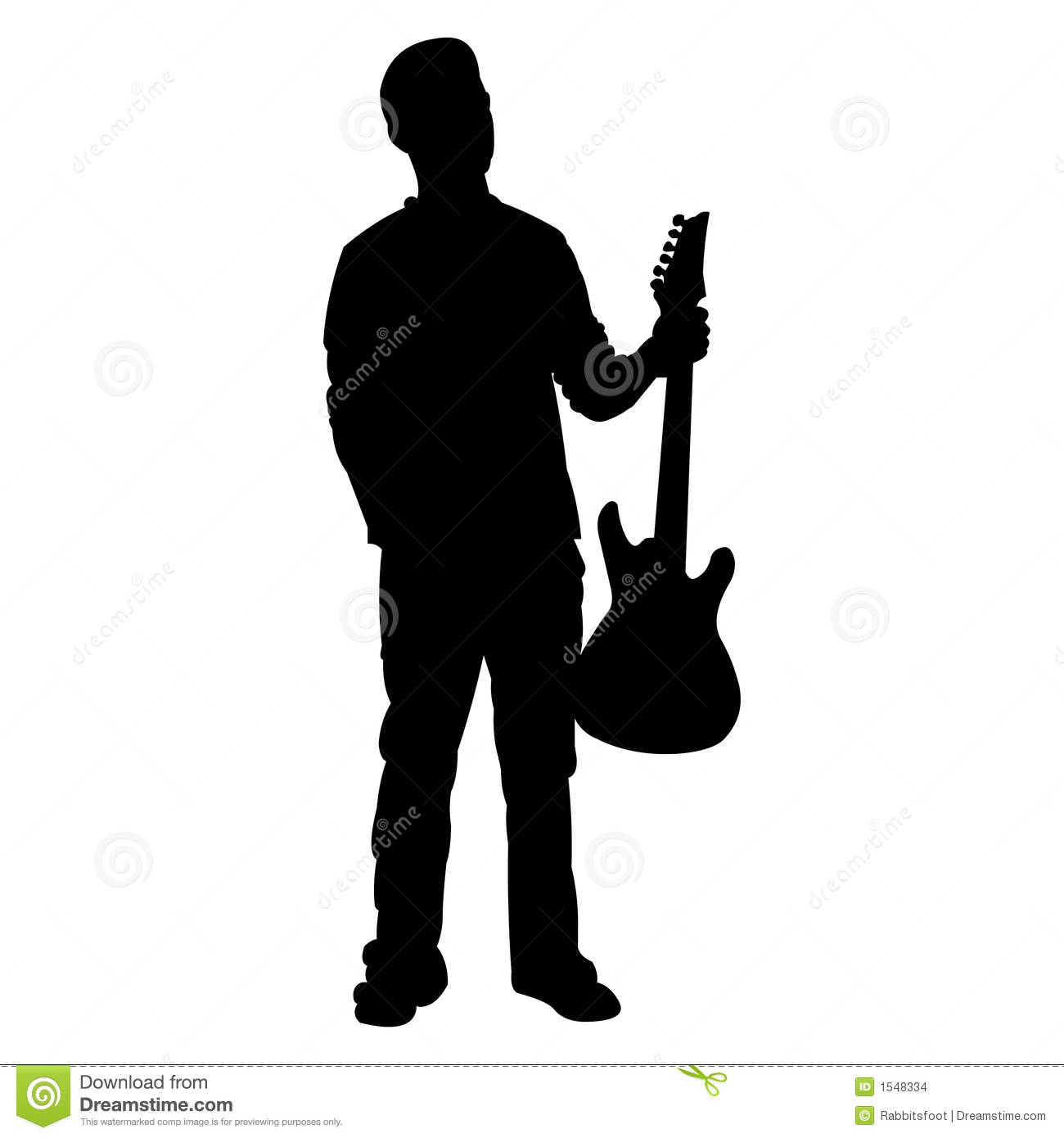 Teen Guitar Player   Silhouette Stock Images   Image  1548334