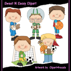 This Fun Boys Sport Clipart Comes With 5 Elements  All Graphics Are