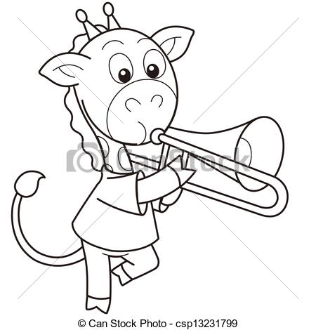 Trombone Clipart Black And White