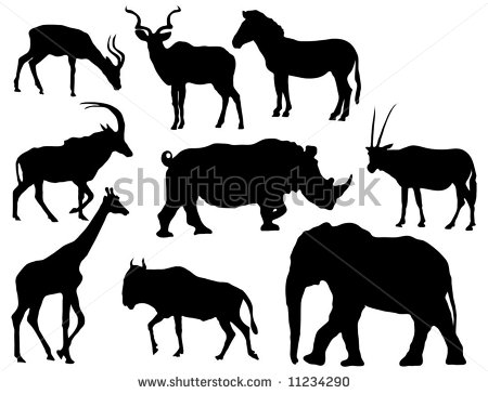African Animal Silhouette Clipart - Clipart Kid