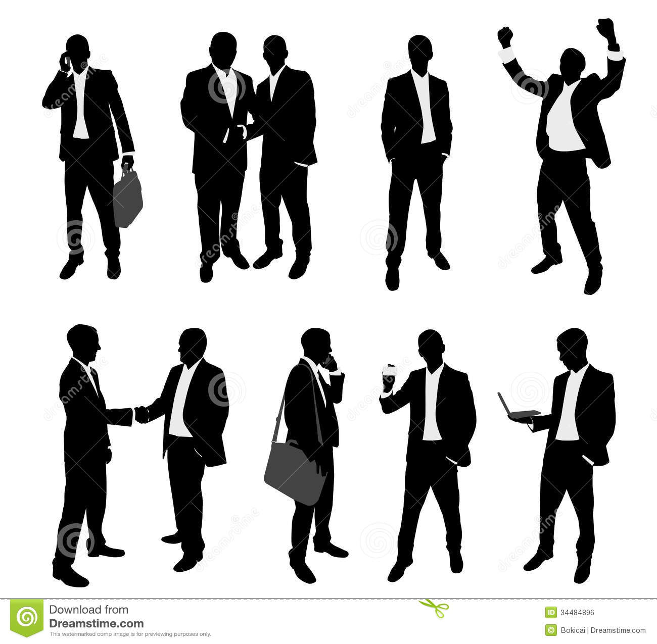 Business People Silhouettes Royalty Free Stock Image   Image  34484896