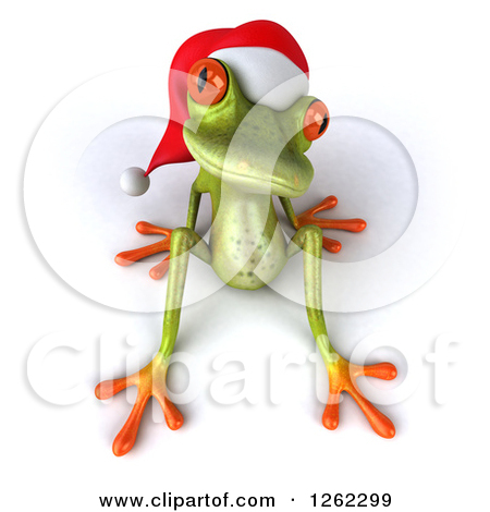 Clip Art Illustration Of A Frog Sitting On A Log Royalty Free   Best