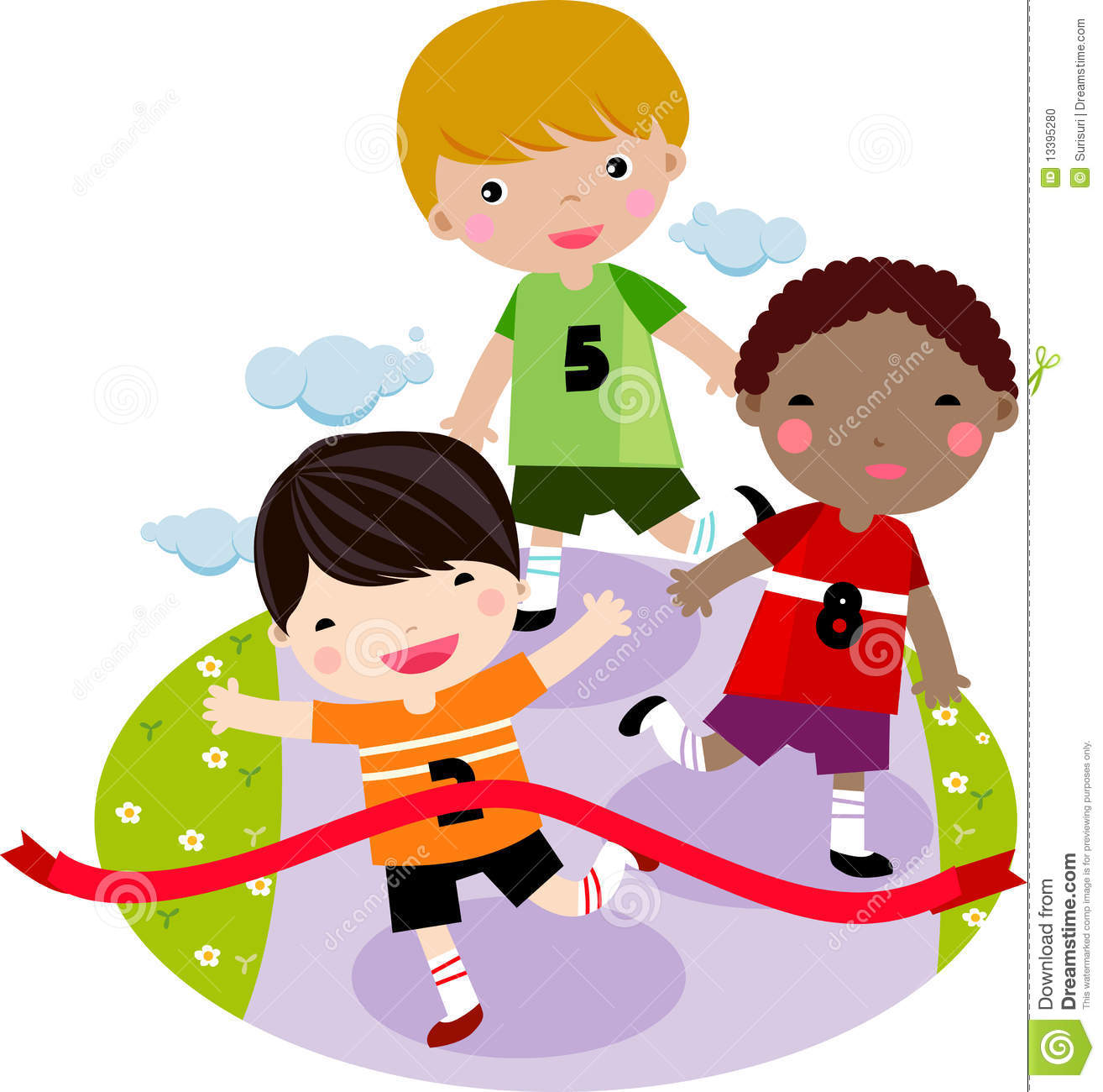 More Similar Stock Images Of   Children Running Together In A Race
