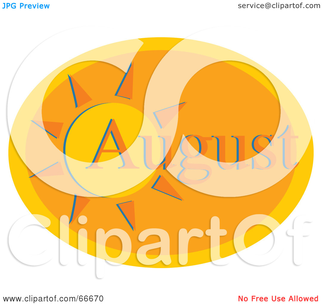 Royalty Free Rf Clipart Illustration Of A Month Of August Hot Sun