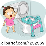 Royalty Free  Rf  Potty Seat Clipart Illustrations Vector Graphics