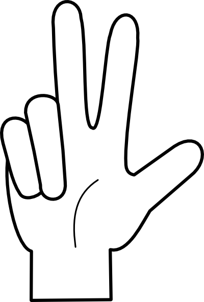 7 Fingers Clipart - Clipart Kid