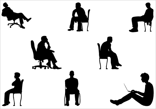 Person sitting in chair clipart clipart kid