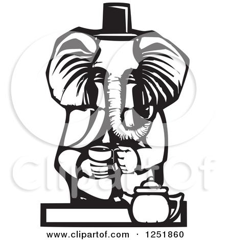 Tea Party Black And White Clipart   Cliparthut   Free Clipart