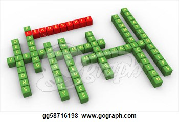 3d Crossword Of Outstanding Leadership Skills  Clip Art Gg58716198