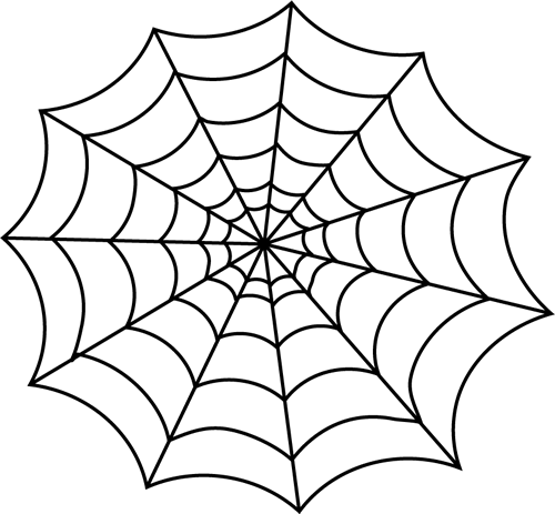 Black And White Spider Web Clip Art   Black And White Spider Web Image