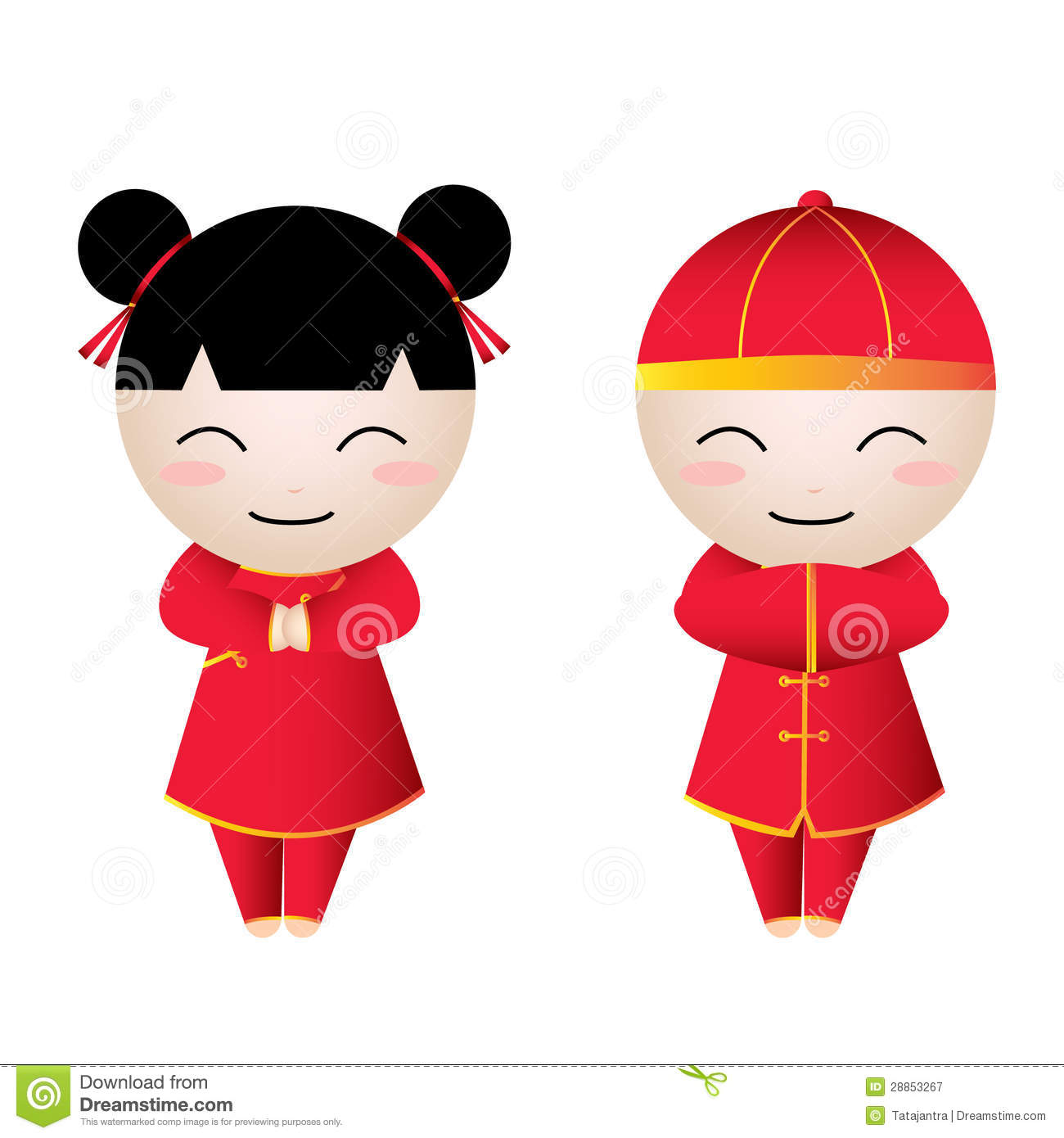 Chinese Girl Cartoon Clipart - Clipart Kid