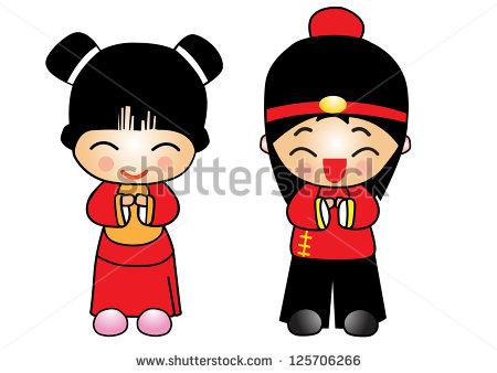Chinese Girl Cartoon Clipart - Clipart Kid