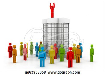 Clip Art   Business Team With Leader  Stock Illustration Gg63938058