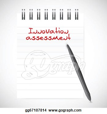 Clip Art   Innovation Assessment Notepad Illustration Design Over A