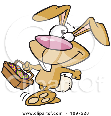 Clipart Boxer Bunny Rabbit Punching   Royalty Free Vector Illustration