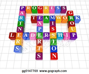 Crossword 21   Leadership  Clipart Drawing Gg5147769   Gograph