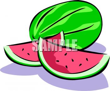Cut Watermelon   Royalty Free Clipart Image