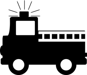 Fire Truck Black And White Clipart - Clipart Kid