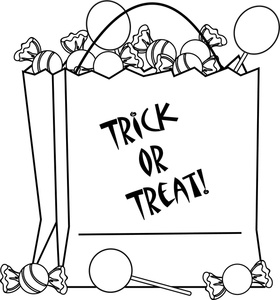Halloween Candy Clipart Black And White
