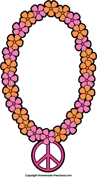 Home Free Clipart Peace Sign Clipart Peace Flower Necklace