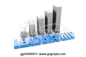 Leadership In 3d With Business Graph Chart  Clip Art Gg54090911