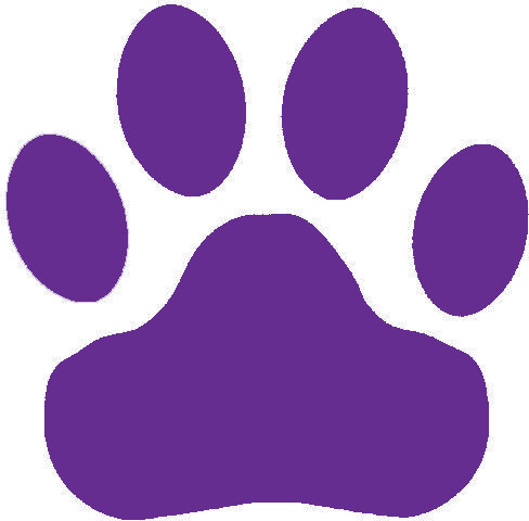 Purple Paw Clipart Clipart Suggest
