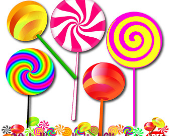Lollipop Clipart Chocolate Lollipop Invitation Candy Lollipops Sticks Wrapped Peppermint Candy