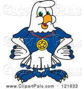 Pal Clipart Of A Seahawk Sports Mascot Wearing A Medal By Toons4biz
