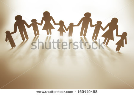 Paper Doll Family Holding Hands Stock Photo 160449488   Shutterstock
