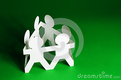 Paper Dolls Holding Hands Royalty Free Stock Photo   Image  27193935