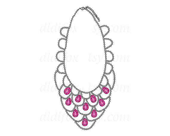 Pink Necklace Clipart Images   Pictures   Becuo