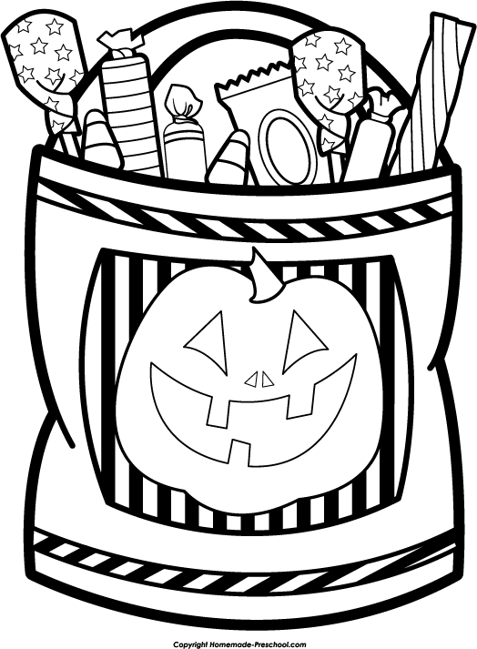Trick Or Treat Bag Blank Clip Art Pictures To Pin On Pinterest