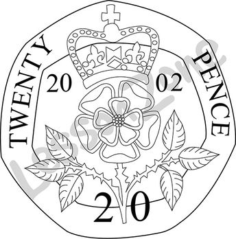 104652z01 United Kingdom 20p Coin Bw01